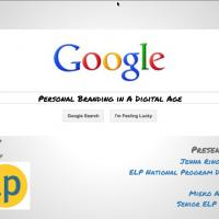 Screenshot of presentation personal branding in a digital age