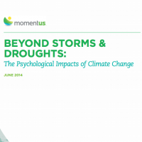 Screenshot of the front of Beyond Storms and Droughts: The Psychological Impacts of Climate Change document