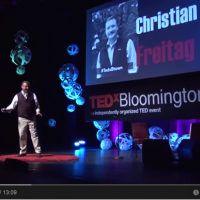 Screenshot of Christian Freitag presenting at Tedx