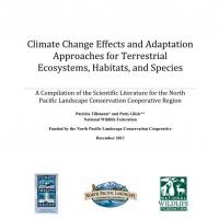 Screenshot of cover of Climate Change Effects & Adaptation Approaches for Terrestrial Ecosystems, Habitats and Species