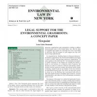 Screenshot of Environmental Law in New York document