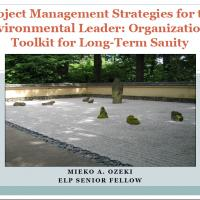 Screenshot of presentation 'project management strategies for the environmental leader: organizational toolkit for longterm sanity'