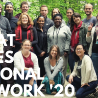 ELP fellows in nature background with text 'Great Lakes Regional Network '20'