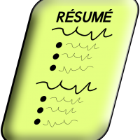 Clipart of a resume