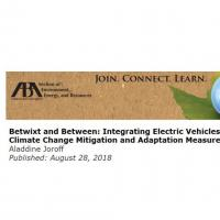 Text 'Betwixt and between integrating electric vehicles with other climate change mitigation and adaption measures'